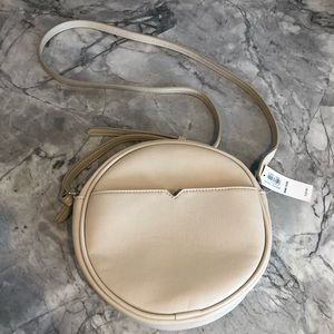 Old Navy Faux-Leather Crossbody Circle Bag